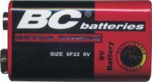 Baterie zinkochloridová 9V baterie Extra BC 6F22 9V