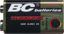 Baterie alkalická 9V baterie Extra BC 6LR61